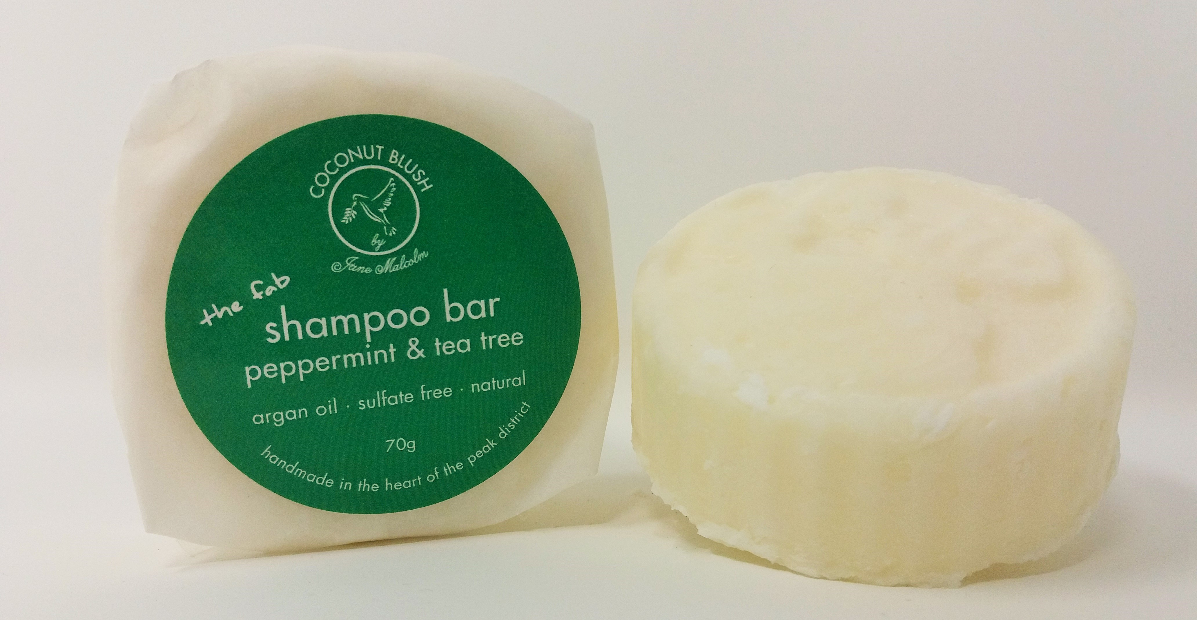 Shampoo Bar with Argan Oil & Vitamin B5 - Tea Tree & Peppermint